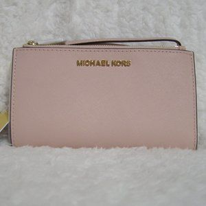Michael Kors Jet Set Double Zip Wristlet/Wallet
